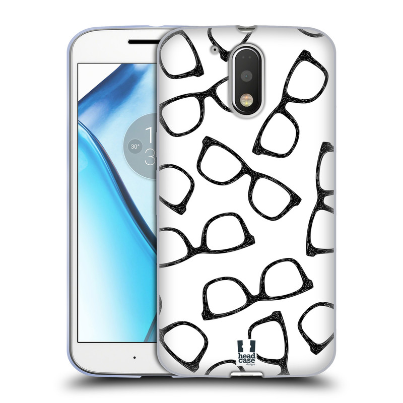 Silikonové pouzdro na mobil Lenovo Moto G4 HEAD CASE HIPSTER BRÝLE (Silikonový kryt či obal na mobilní telefon Lenovo Moto G4 (Single a Dual SIM))