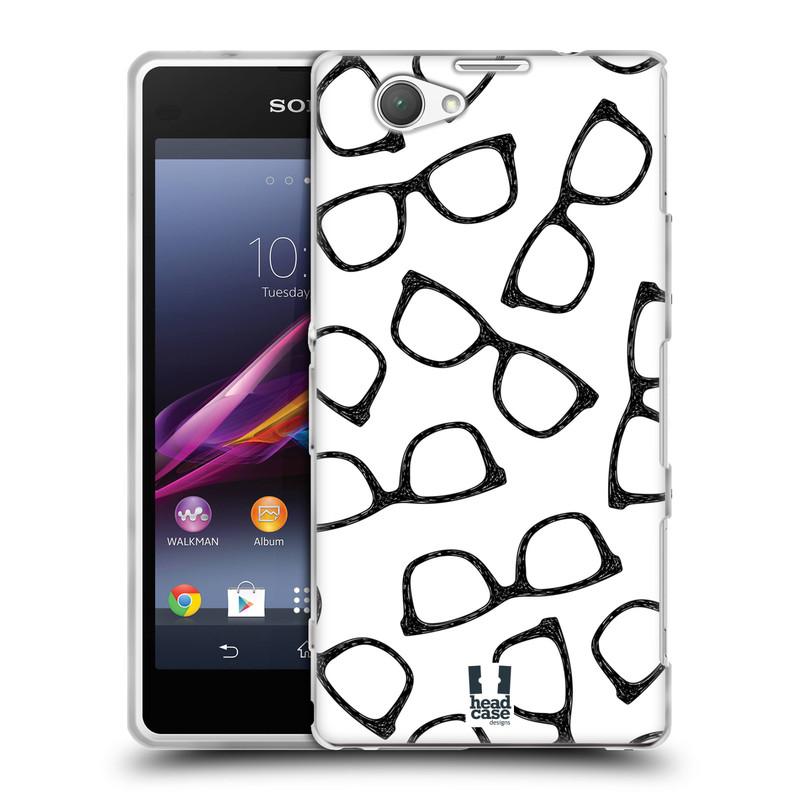 Silikonové pouzdro na mobil Sony Xperia Z1 Compact D5503 HEAD CASE HIPSTER BRÝLE (Silikonový kryt či obal na mobilní telefon Sony Xperia Z1 Compact)
