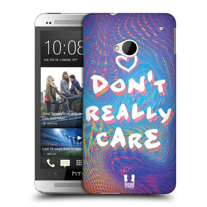 Plastové pouzdro na mobil HTC ONE M7 HEAD CASE HOLOGRAF DON'T CARE (Kryt či obal na mobilní telefon HTC ONE M7)