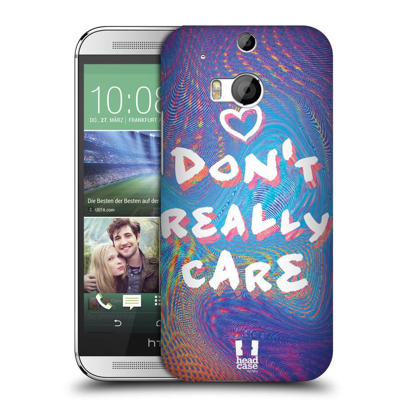 Plastové pouzdro na mobil HTC ONE M8 HEAD CASE HOLOGRAF DON'T CARE (Kryt či obal na mobilní telefon HTC ONE M8)