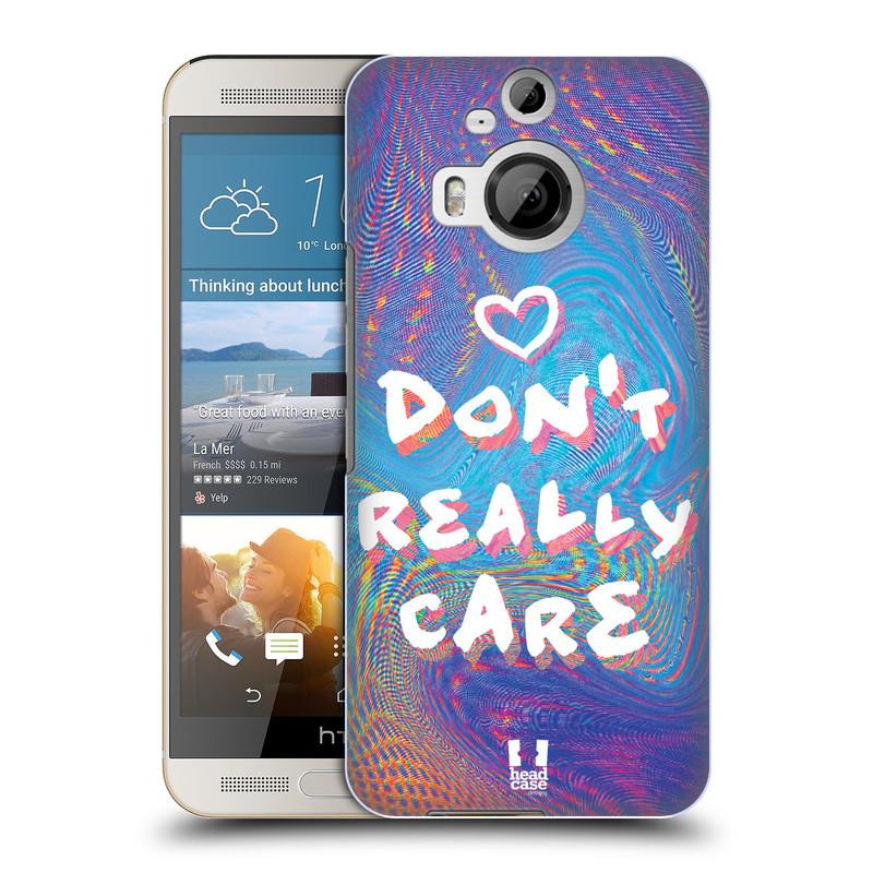 Plastové pouzdro na mobil HTC One M9+ (Plus) HEAD CASE HOLOGRAF DON'T CARE (Kryt či obal na mobilní telefon HTC One M9+)