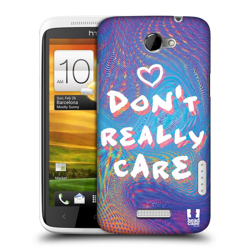 Plastové pouzdro na mobil HTC ONE X HEAD CASE HOLOGRAF DON'T CARE (Kryt či obal na mobilní telefon HTC ONE X)