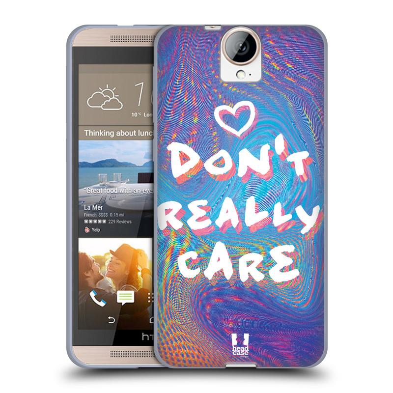 Silikonové pouzdro na mobil HTC One E9+(Plus) HEAD CASE HOLOGRAF DON'T CARE (Silikonový kryt či obal na mobilní telefon HTC One E9+)