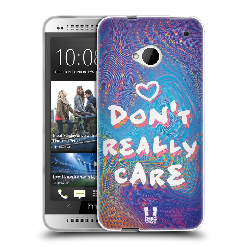 Silikonové pouzdro na mobil HTC ONE M7 HEAD CASE HOLOGRAF DON'T CARE (Silikonový kryt či obal na mobilní telefon HTC ONE M7)