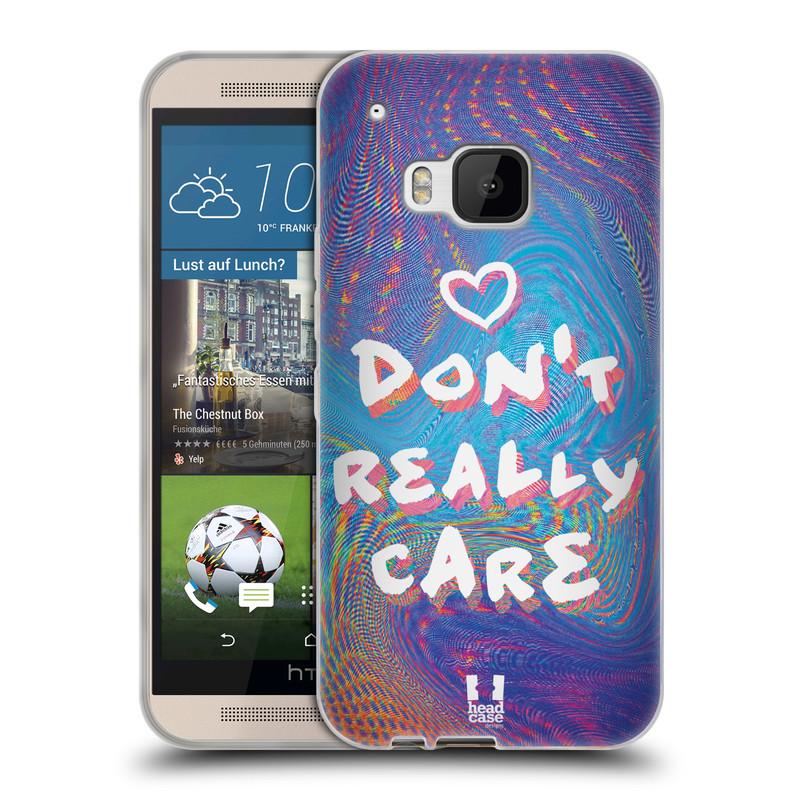 Silikonové pouzdro na mobil HTC ONE M9 HEAD CASE HOLOGRAF DON'T CARE (Silikonový kryt či obal na mobilní telefon HTC ONE M9)