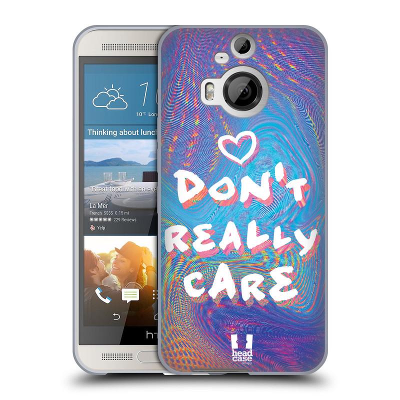 Silikonové pouzdro na mobil HTC One M9+ (Plus) HEAD CASE HOLOGRAF DON'T CARE (Silikonový kryt či obal na mobilní telefon HTC One M9+)