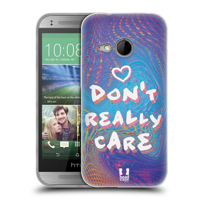 Silikonové pouzdro na mobil HTC ONE Mini 2 HEAD CASE HOLOGRAF DON'T CARE (Silikonový kryt či obal na mobilní telefon HTC ONE Mini 2)
