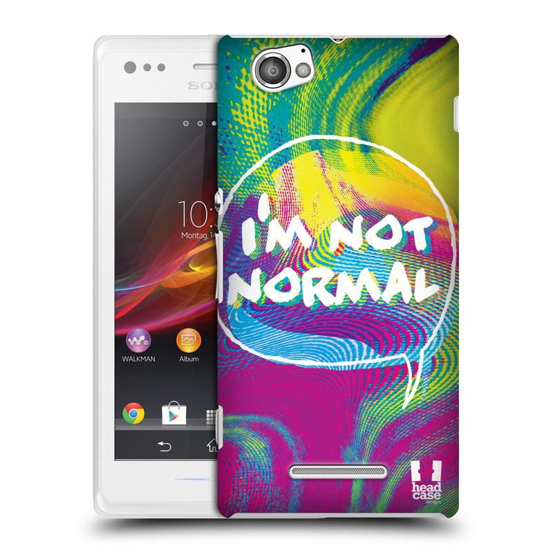 Plastové pouzdro na mobil Sony Xperia M C1905 HEAD CASE HOLOGRAF I'M NOT NORMAL (Kryt či obal na mobilní telefon Sony Xperia M a M Dual)