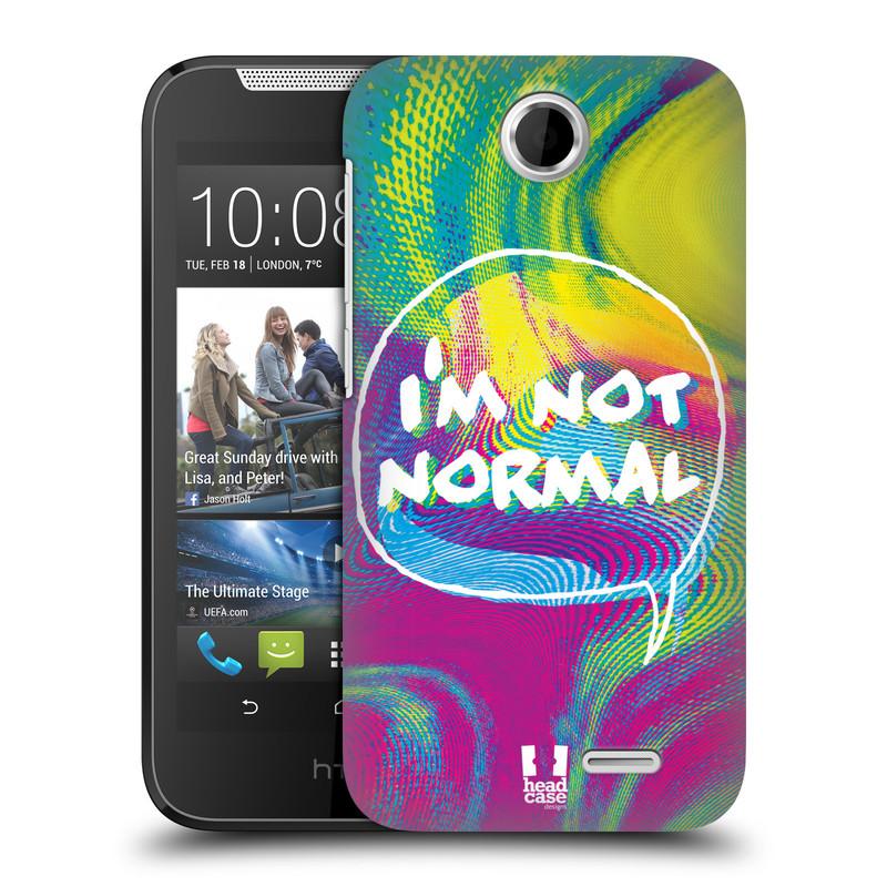 Plastové pouzdro na mobil HTC Desire 310 HEAD CASE HOLOGRAF I'M NOT NORMAL (Kryt či obal na mobilní telefon HTC Desire 310)