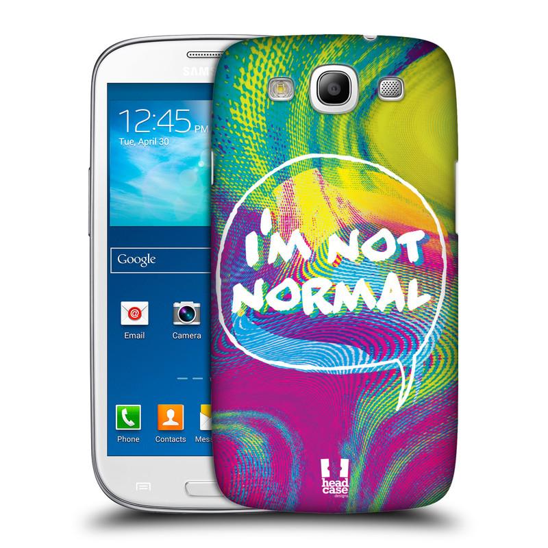 Plastové pouzdro na mobil Samsung Galaxy S III HEAD CASE HOLOGRAF I'M NOT NORMAL (Kryt či obal na mobilní telefon Samsung Galaxy S III GT-i9300)