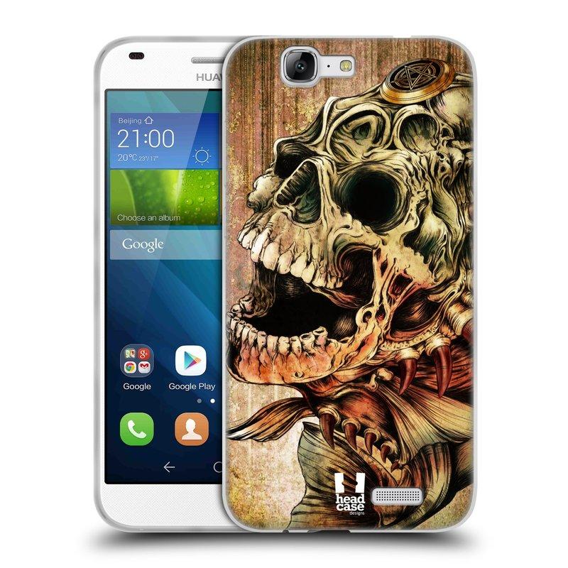 Silikonové pouzdro na mobil Huawei Ascend G7 HEAD CASE PIRANHA (Silikonový kryt či obal na mobilní telefon Huawei Ascend G7)