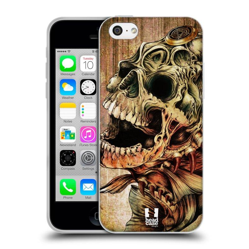 Silikonové pouzdro na mobil Apple iPhone 5C HEAD CASE PIRANHA (Silikonový kryt či obal na mobilní telefon Apple iPhone 5C)