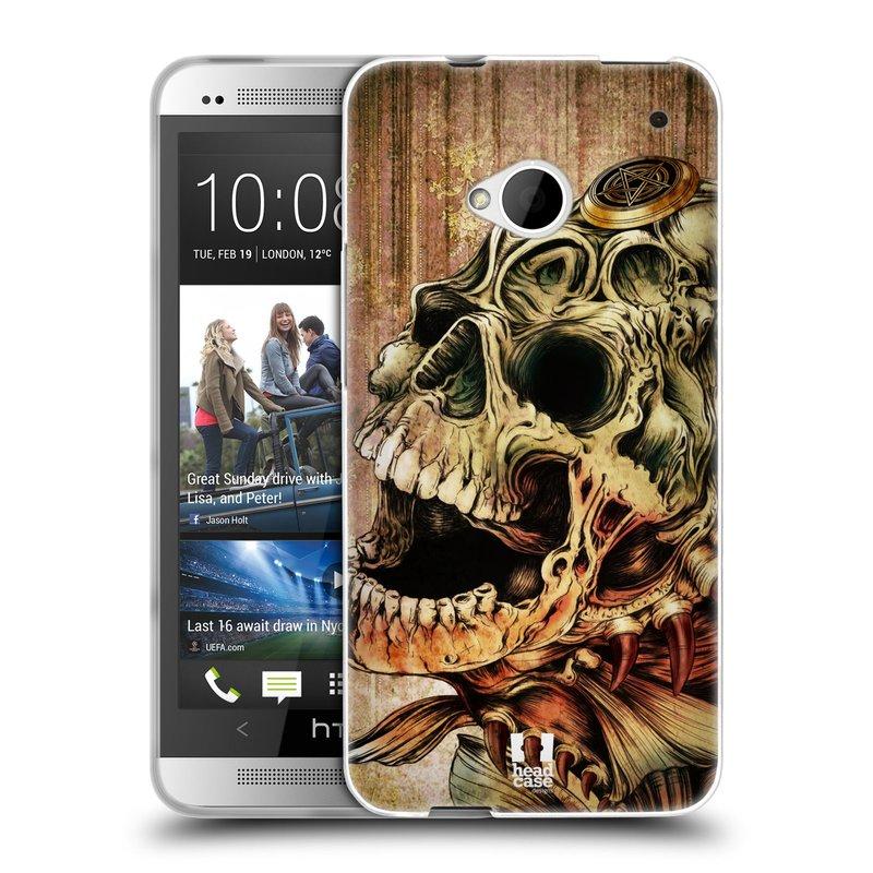 Silikonové pouzdro na mobil HTC ONE M7 HEAD CASE PIRANHA (Silikonový kryt či obal na mobilní telefon HTC ONE M7)