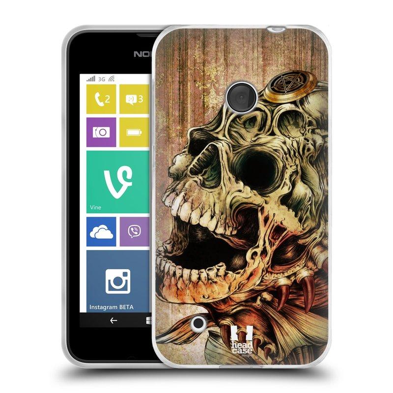 Silikonové pouzdro na mobil Nokia Lumia 530 HEAD CASE PIRANHA (Silikonový kryt či obal na mobilní telefon Nokia Lumia 530)