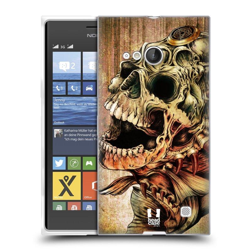 Silikonové pouzdro na mobil Nokia Lumia 735 HEAD CASE PIRANHA (Silikonový kryt či obal na mobilní telefon Nokia Lumia 735)