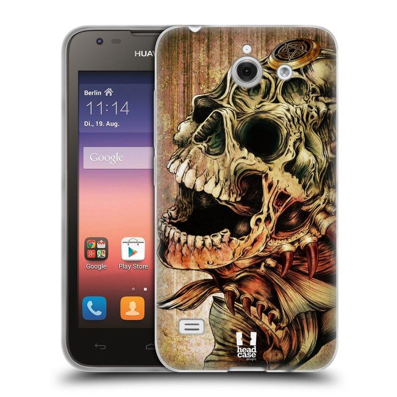 Silikonové pouzdro na mobil Huawei Ascend Y550 HEAD CASE PIRANHA (Silikonový kryt či obal na mobilní telefon Huawei Ascend Y550)