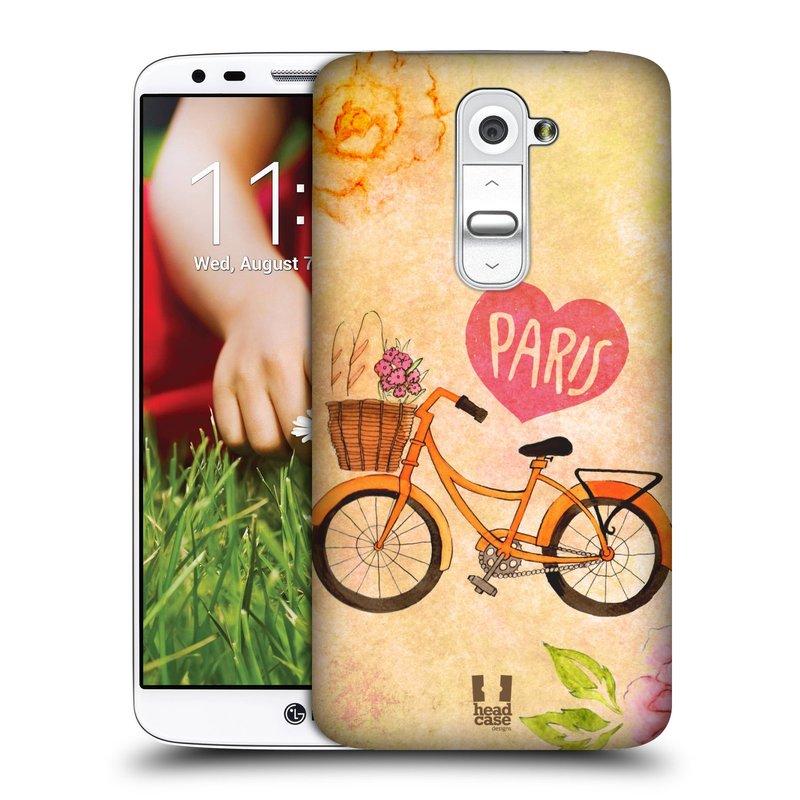 Plastové pouzdro na mobil LG G2 HEAD CASE PAŘÍŽ NA KOLE (Kryt či obal na mobilní telefon LG G2 D802)