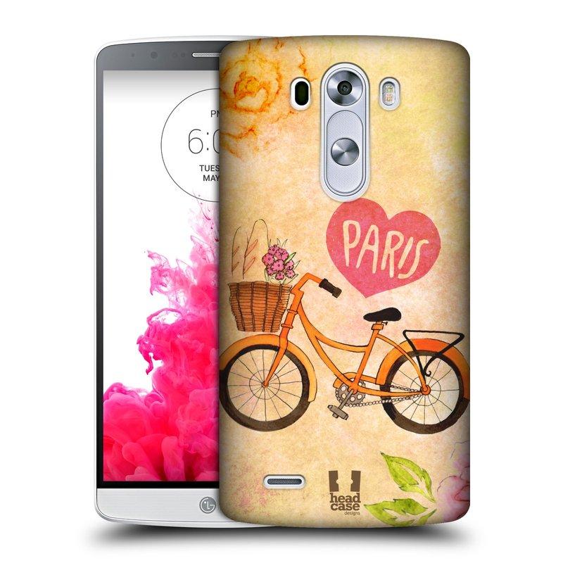 Plastové pouzdro na mobil LG G3 HEAD CASE PAŘÍŽ NA KOLE (Kryt či obal na mobilní telefon LG G3 D855)