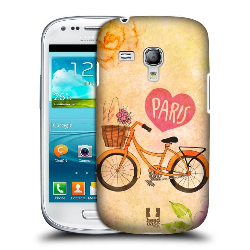 Plastové pouzdro na mobil Samsung Galaxy S III Mini HEAD CASE PAŘÍŽ NA KOLE (Kryt či obal na mobilní telefon Samsung Galaxy S III Mini GT-i8190)