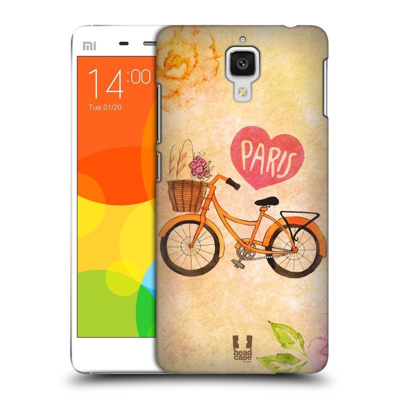 Plastové pouzdro na mobil Xiaomi Mi4 HEAD CASE PAŘÍŽ NA KOLE (Kryt či obal na mobilní telefon Xiaomi Mi4)