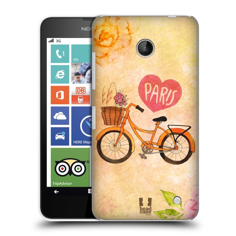 Plastové pouzdro na mobil Nokia Lumia 630 HEAD CASE PAŘÍŽ NA KOLE (Kryt či obal na mobilní telefon Nokia Lumia 630 a Nokia Lumia 630 Dual SIM)