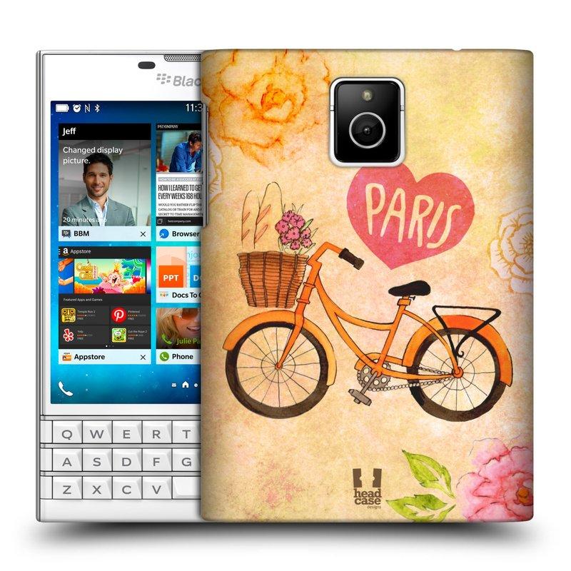 Plastové pouzdro na mobil Blackberry PASSPORT HEAD CASE PAŘÍŽ NA KOLE (Kryt či obal na mobilní telefon Blackberry PASSPORT)
