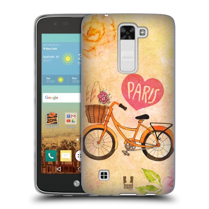 Silikonové pouzdro na mobil LG K7 HEAD CASE PAŘÍŽ NA KOLE (Silikonový kryt či obal na mobilní telefon LG K7)