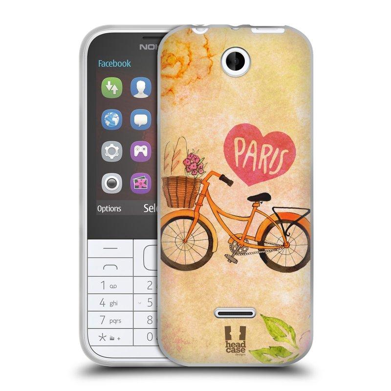 Silikonové pouzdro na mobil Nokia 225 HEAD CASE PAŘÍŽ NA KOLE (Silikonový kryt či obal na mobilní telefon Nokia 225)