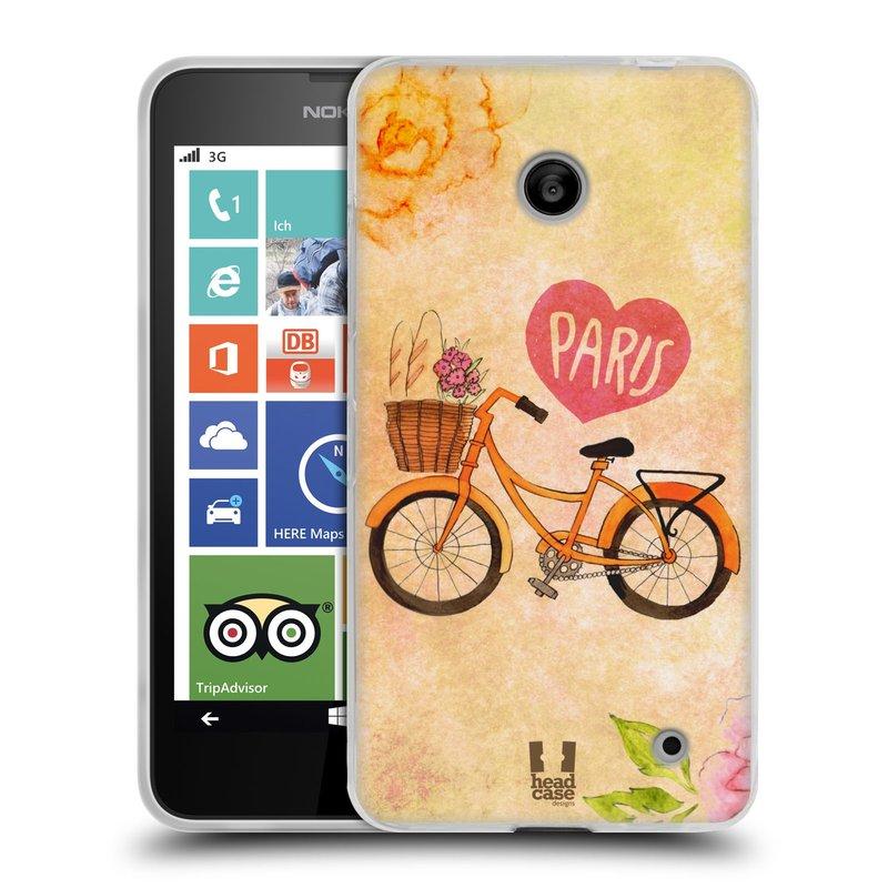Silikonové pouzdro na mobil Nokia Lumia 630 HEAD CASE PAŘÍŽ NA KOLE (Silikonový kryt či obal na mobilní telefon Nokia Lumia 630 a Nokia Lumia 630 Dual SIM)