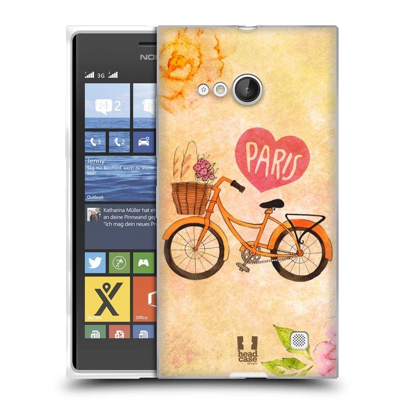 Silikonové pouzdro na mobil Nokia Lumia 730 Dual SIM HEAD CASE PAŘÍŽ NA KOLE (Silikonový kryt či obal na mobilní telefon Nokia Lumia 730 Dual SIM)
