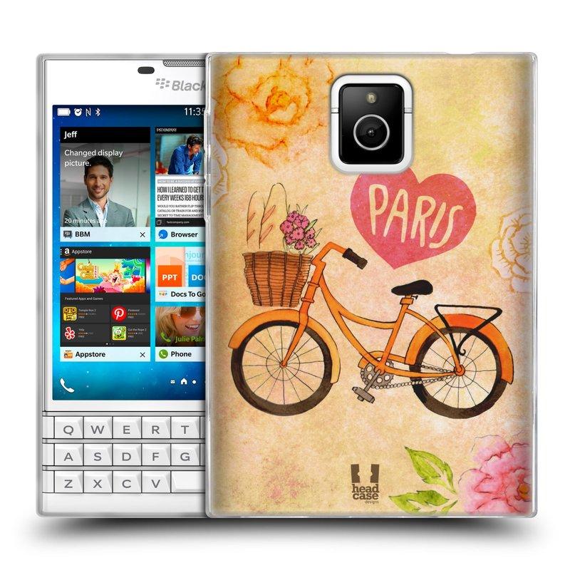 Silikonové pouzdro na mobil Blackberry PASSPORT HEAD CASE PAŘÍŽ NA KOLE (Silikonový kryt či obal na mobilní telefon Blackberry PASSPORT)