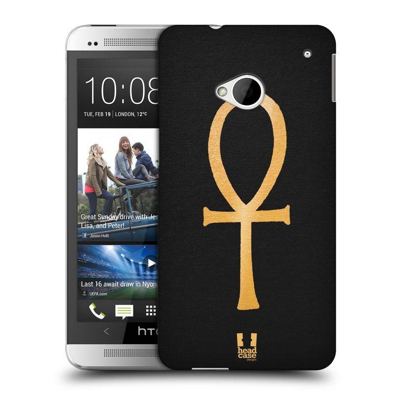Plastové pouzdro na mobil HTC ONE M7 HEAD CASE EGYPT ANKH NILSKÝ KŘÍŽ (Kryt či obal na mobilní telefon HTC ONE M7)