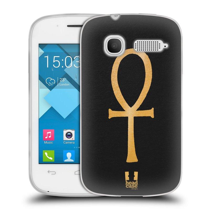 Silikonové pouzdro na mobil Alcatel One Touch Pop C1 HEAD CASE EGYPT ANKH NILSKÝ KŘÍŽ (Silikonový kryt či obal na mobilní telefon Alcatel OT-4015D POP C1)