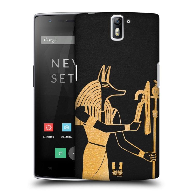 Plastové pouzdro na mobil OnePlus One HEAD CASE EGYPT ANUBIS (Kryt či obal na mobilní telefon OnePlus One)