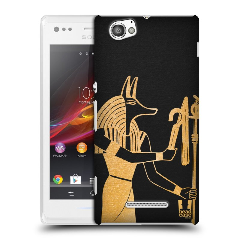 Plastové pouzdro na mobil Sony Xperia M C1905 HEAD CASE EGYPT ANUBIS (Kryt či obal na mobilní telefon Sony Xperia M a M Dual)
