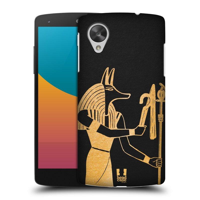 Plastové pouzdro na mobil LG Nexus 5 HEAD CASE EGYPT ANUBIS (Kryt či obal na mobilní telefon LG Google Nexus 5 D821)