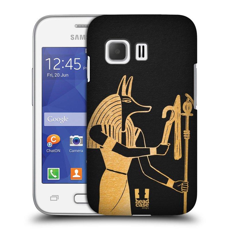 Plastové pouzdro na mobil Samsung Galaxy Young 2 HEAD CASE EGYPT ANUBIS (Kryt či obal na mobilní telefon Samsung Galaxy Young 2 SM-G130)