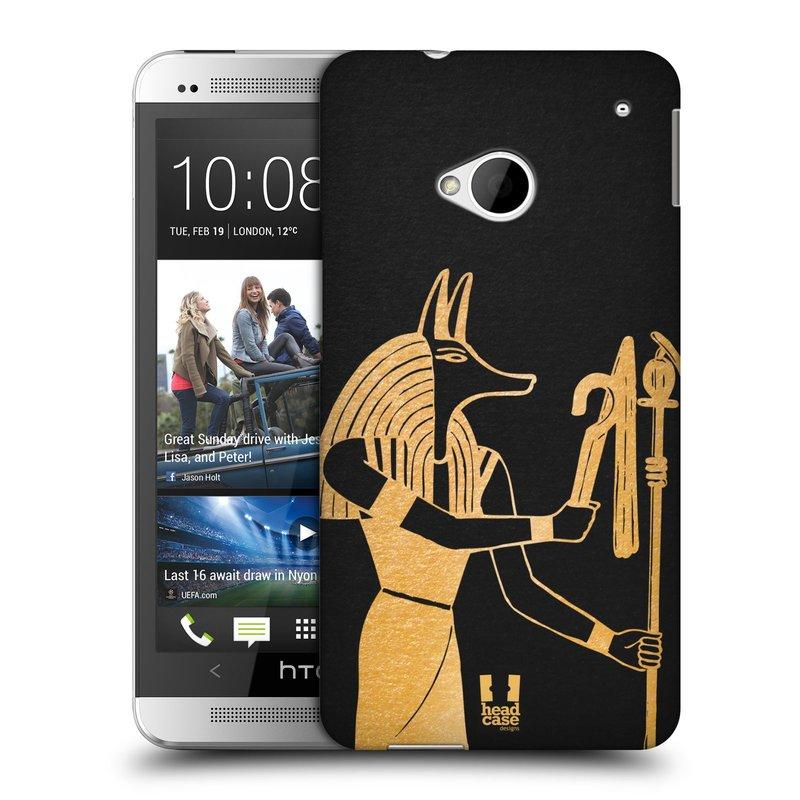 Plastové pouzdro na mobil HTC ONE M7 HEAD CASE EGYPT ANUBIS (Kryt či obal na mobilní telefon HTC ONE M7)