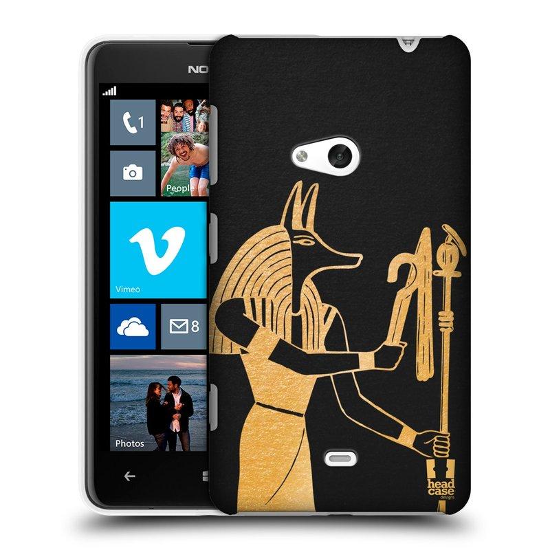 Plastové pouzdro na mobil Nokia Lumia 625 HEAD CASE EGYPT ANUBIS (Kryt či obal na mobilní telefon Nokia Lumia 625)