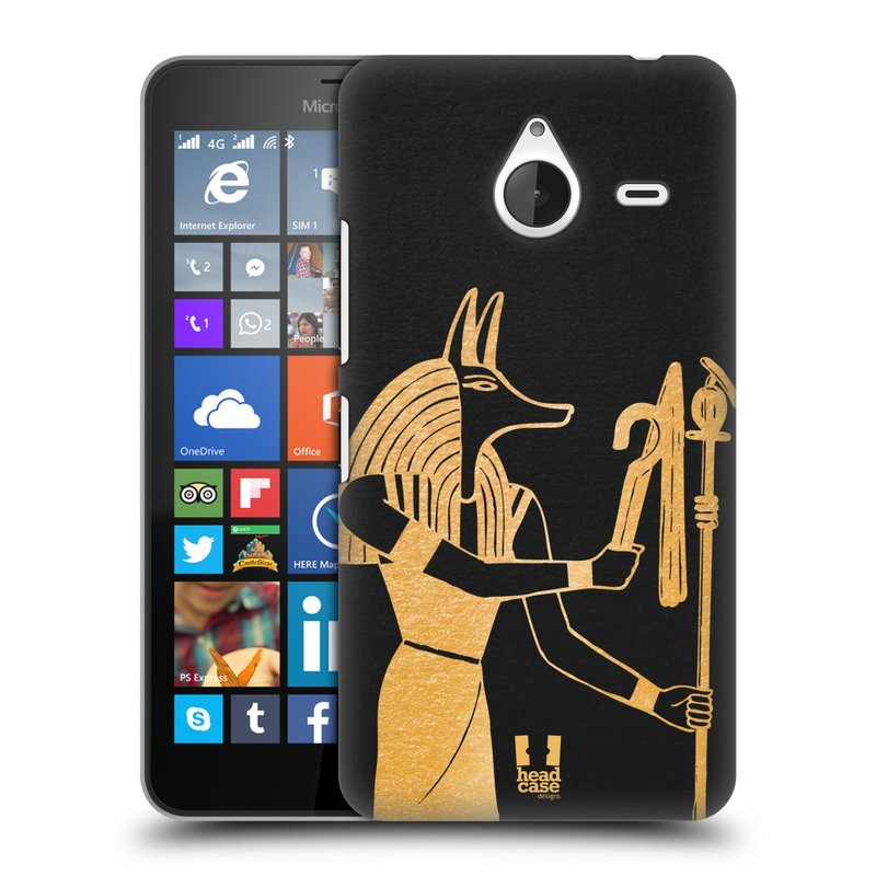 Plastové pouzdro na mobil Microsoft Lumia 640 XL HEAD CASE EGYPT ANUBIS (Kryt či obal na mobilní telefon Microsoft Lumia 640 XL)