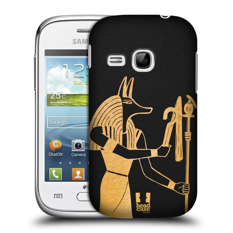 Plastové pouzdro na mobil Samsung Galaxy Young HEAD CASE EGYPT ANUBIS (Kryt či obal na mobilní telefon Samsung Galaxy Young GT-S6310)