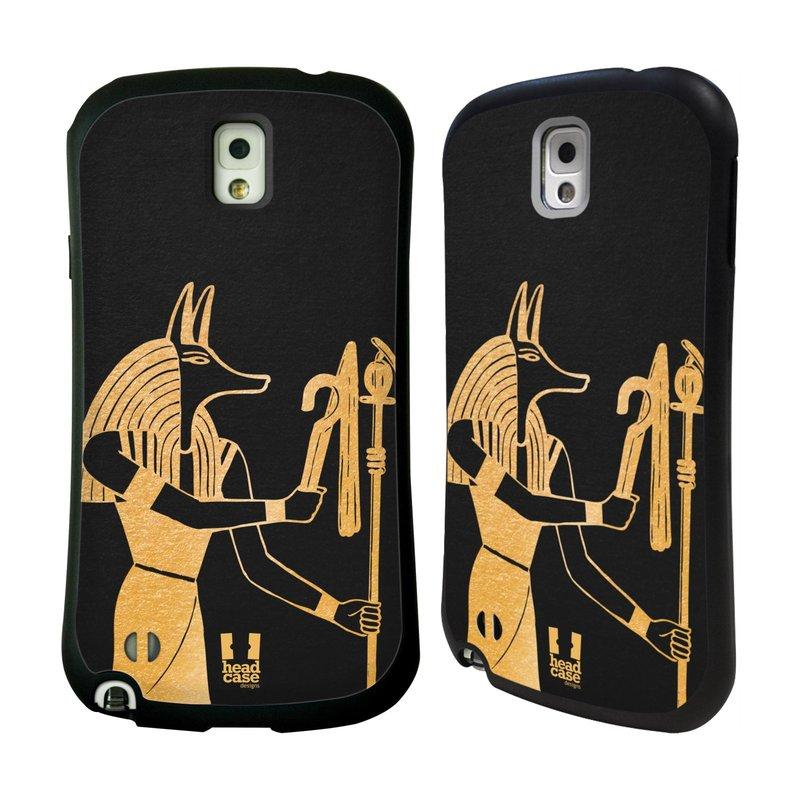 Nárazuvzdorné pouzdro na mobil Samsung Galaxy Note 3 HEAD CASE EGYPT ANUBIS (Odolný nárazuvzdorný silikonový kryt či obal na mobilní telefon Samsung Galaxy Note 3 SM-N9005)
