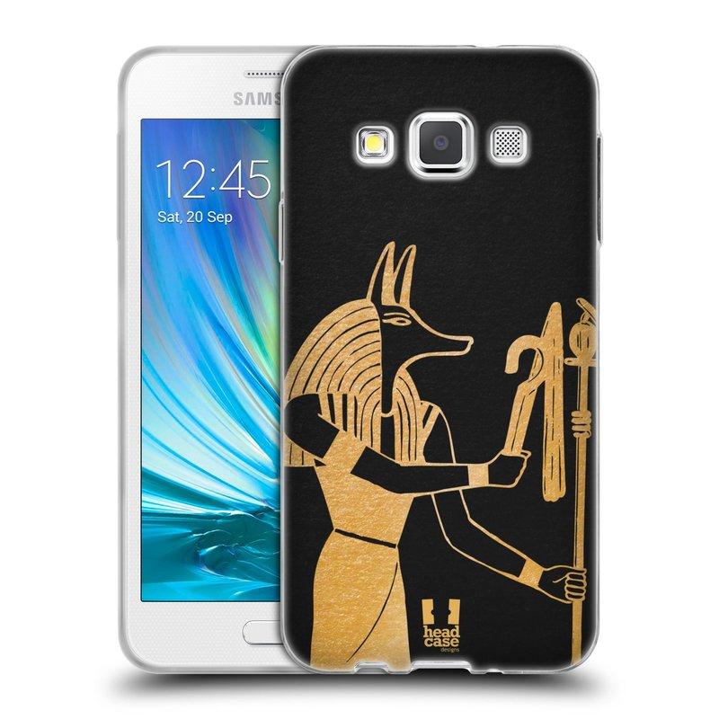 Silikonové pouzdro na mobil Samsung Galaxy A3 HEAD CASE EGYPT ANUBIS (Silikonový kryt či obal na mobilní telefon Samsung Galaxy A3 SM-A300)