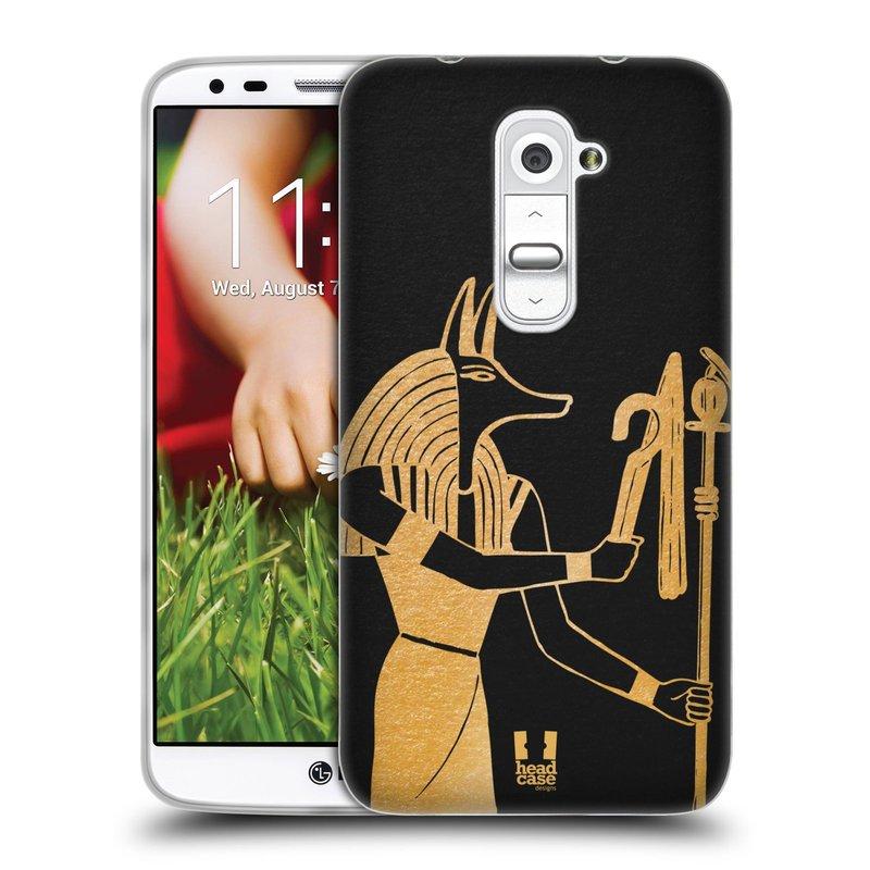 Silikonové pouzdro na mobil LG G2 HEAD CASE EGYPT ANUBIS (Silikonový kryt či obal na mobilní telefon LG G2 D802)