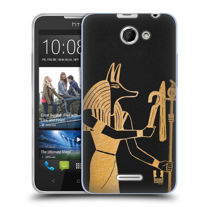 Silikonové pouzdro na mobil HTC Desire 516 HEAD CASE EGYPT ANUBIS (Silikonový kryt či obal na mobilní telefon HTC Desire 516 Dual SIM)