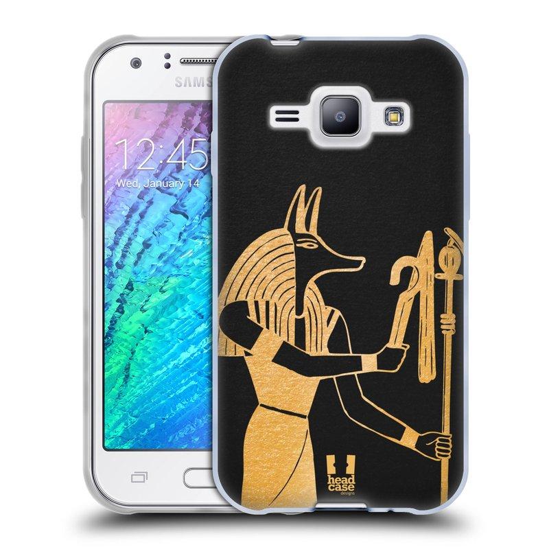 Silikonové pouzdro na mobil Samsung Galaxy J1 HEAD CASE EGYPT ANUBIS (Silikonový kryt či obal na mobilní telefon Samsung Galaxy J1 a J1 Duos)