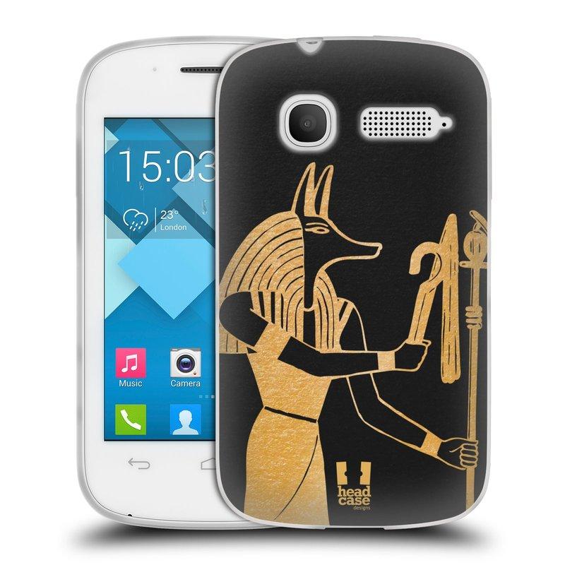 Silikonové pouzdro na mobil Alcatel One Touch Pop C1 HEAD CASE EGYPT ANUBIS (Silikonový kryt či obal na mobilní telefon Alcatel OT-4015D POP C1)