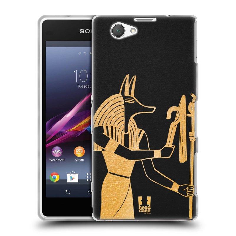 Silikonové pouzdro na mobil Sony Xperia Z1 Compact D5503 HEAD CASE EGYPT ANUBIS (Silikonový kryt či obal na mobilní telefon Sony Xperia Z1 Compact)
