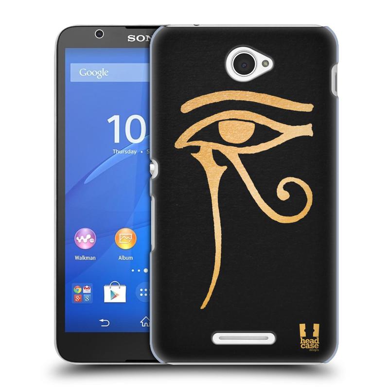 Plastové pouzdro na mobil Sony Xperia E4 E2105 HEAD CASE EGYPT OKO BOHA RA (Kryt či obal na mobilní telefon Sony Xperia E4 a E4 Dual SIM)