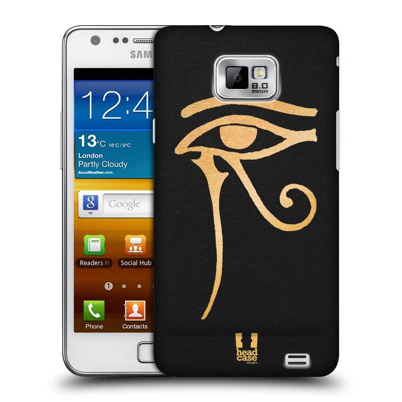 Plastové pouzdro na mobil Samsung Galaxy S II HEAD CASE EGYPT OKO BOHA RA (Kryt či obal na mobilní telefon Samsung Galaxy S II GT-i9100)